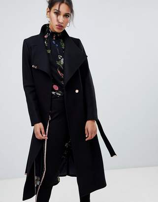 Ted Baker Sandral Extra Long Wool Wrap Coat