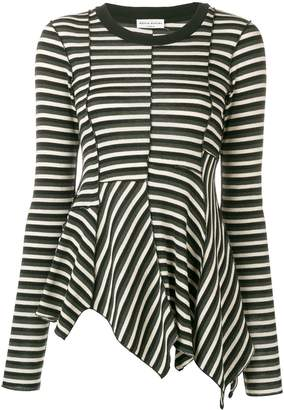 Sonia Rykiel asymmetric striped blouse