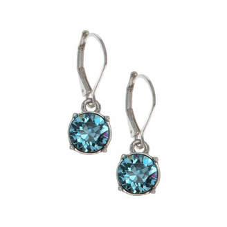 Gloria Vanderbilt Blue Circle Drop Earrings