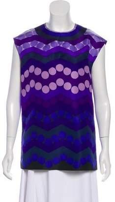 Prada Silk-Blend Short Sleeve Top