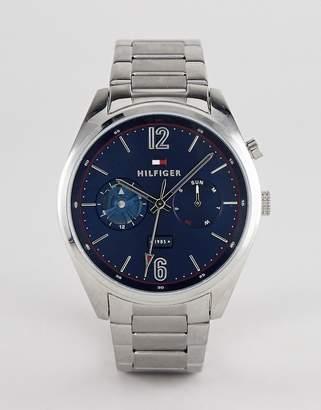Tommy Hilfiger Deacan bracelet watch in silver 44mm