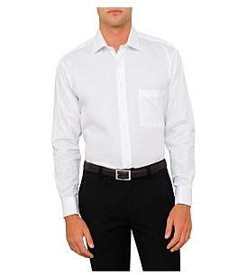 Geoffrey Beene Madison Semi Solid Double Cuff Regular Fit Shirt