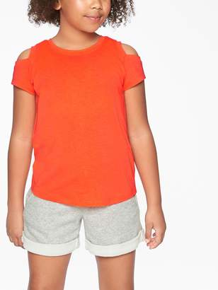 Athleta Girl Cold Shoulder Tee