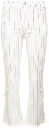 Citizens of Humanity pinstripe high rise cropped jeans
