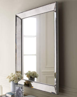 "Vince Beaded Wall Mirror, 36.5""W"