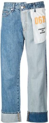 Monse straight-leg Inside Out jeans