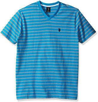 U.S. Polo Assn. Men's Short Sleeve Striped V-Neck Classic Fit T-Shirt