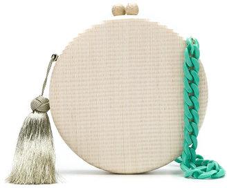Serpui round tassel clutch $430.84 thestylecure.com