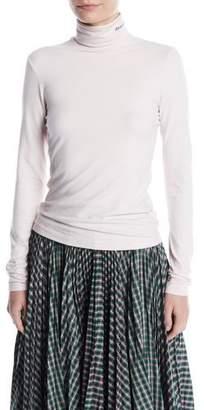Calvin Klein Turtleneck Long-Sleeve Cotton T-Shirt