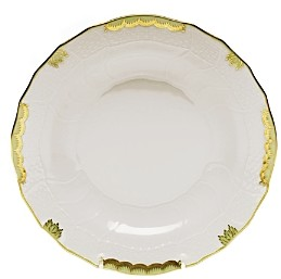 Princess Victoria Green Dessert Plate