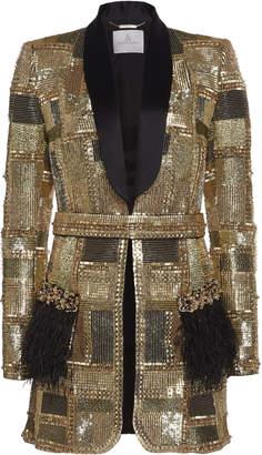 Ralph & Russo Embellished Silk Tuxedo Jacket
