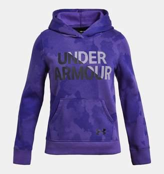 Under Armour Girls' UA Rival Fleece Wordmark Hoodie