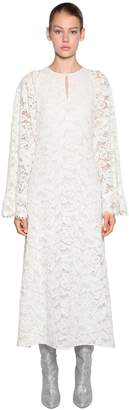Giamba Floral Lace Midi Dress