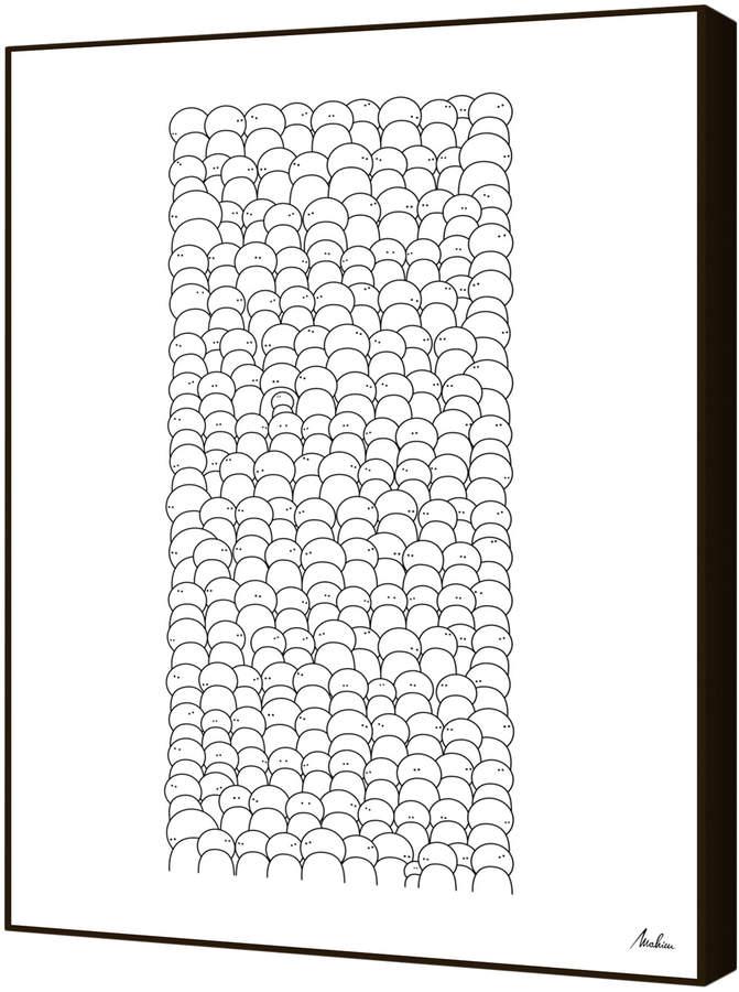 Curioos La Foule by Pier Mahieu (Artblock)