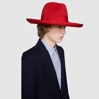 Gucci Felt wide-brim hat