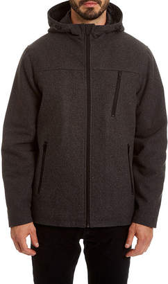 Blend of America Excelled Leather Excelled Water Resistant Wool Hooded Jacket