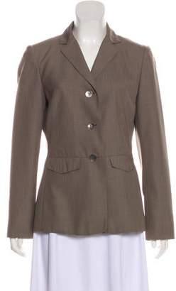 Calvin Klein Peak-Lapel Button-Up Blazer