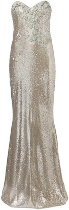 Marchesa Notte sequin embellished gown $995 thestylecure.com