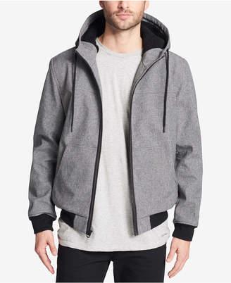 Levi's Men Soft Shell Jacket with Fleece-Lined Hood