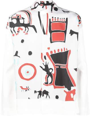 Issey Miyake Homme Plissé printed shirt