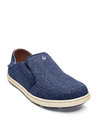 OluKai Boys' Nohea Lole Slip-On Canvas Sneakers, Baby