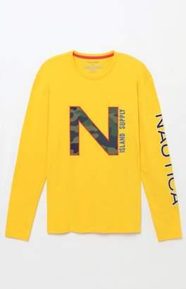 Nautica Camo Long Sleeve T-Shirt