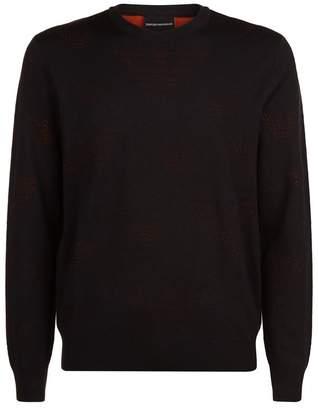 Emporio Armani Two Tone Eagle Sweater