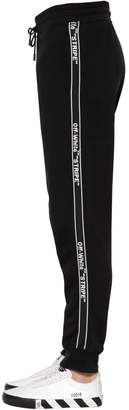 Off-White Logo Tape Cotton Sweatpants