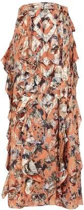 Diane von Furstenberg Salona Floral-print Silk-blend Maxi Skirt