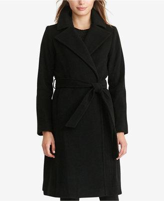 Lauren Ralph Lauren Wool-Cashmere-Blend Wrap Coat $360 thestylecure.com