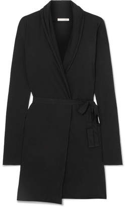Skin - Essentials Pima Cotton-jersey Robe - Black