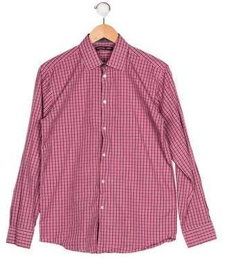 Michael Kors Boys' Printed Button-Up Shirt