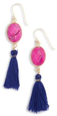 Women's Panacea Stone Tassel Earrings $26 thestylecure.com