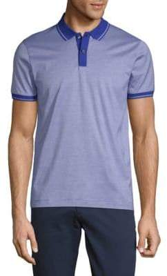 HUGO BOSS Phillipson Pinstripe Short-Sleeve Cotton Polo