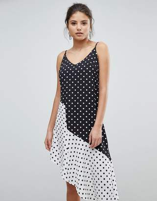 Missguided Asymmetric Polka Dot Dress