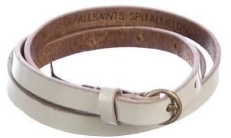 AllSaints Narrow Leather Belt