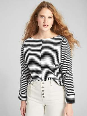 Gap Boxy Ottoman Ribbed Stripe Long Sleeve Top