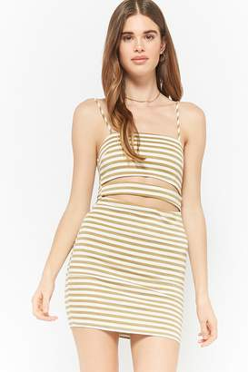 Forever 21 Striped Cutout Cami Dress