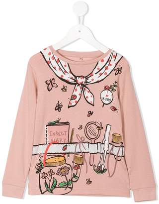 Stella McCartney long-sleeve printed T-shirt