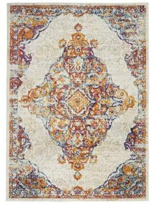 Bungalow Rose Michelson Persian Medallion Ivory Area Rug