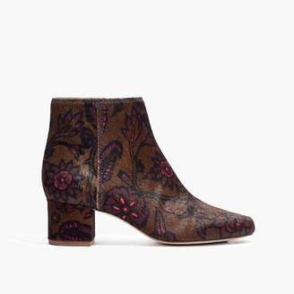 Madewell The Margot Boot in Floral Calf Hair