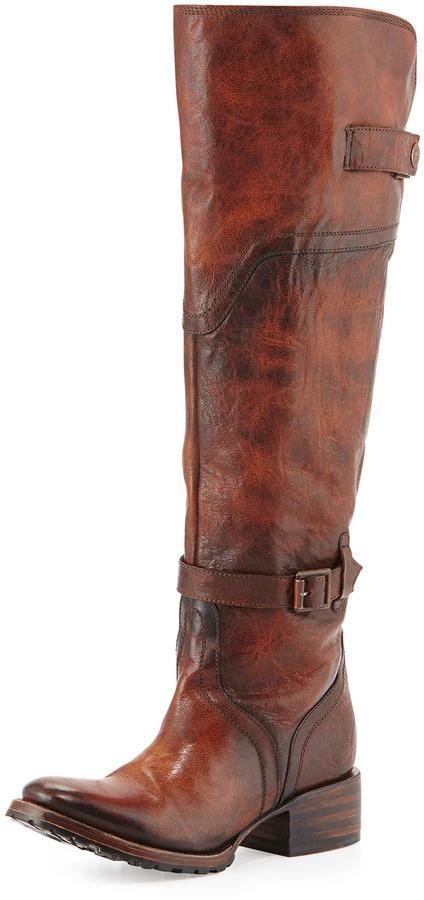 Freebird Quebec Leather Equestrian Boot, Cognac