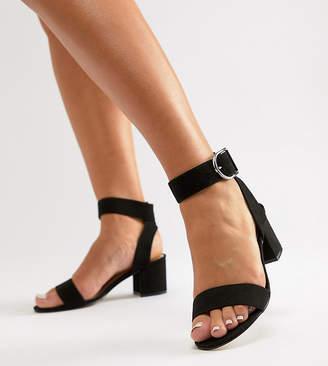 London Rebel Wide Fit Heeled Sandals