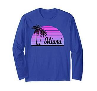 MIAMI FLORIDA Souvenirs Palm Trees Beach Spring Break Long Sleeve T-Shirt