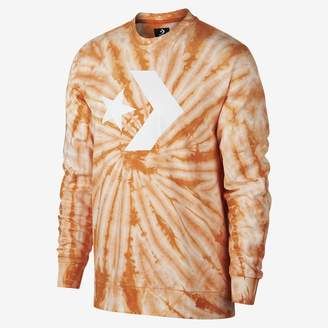 Converse Star Chevron Lightweight Tie Dye Crew Men's Sweatshirt