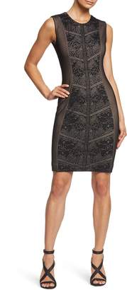Dress the Population Tori Lace Overlay Body-Con Dress