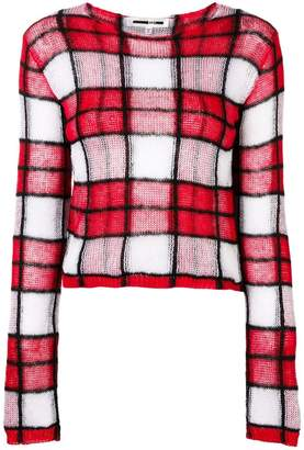 McQ checked knit jumper