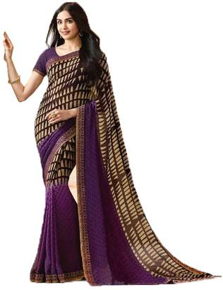 PinkCityCreations Indian Sarees for Women Wedding Designer Party Wear Traditional Multi Color Saree.