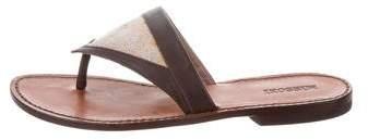 Missoni Leather Thong Sandals