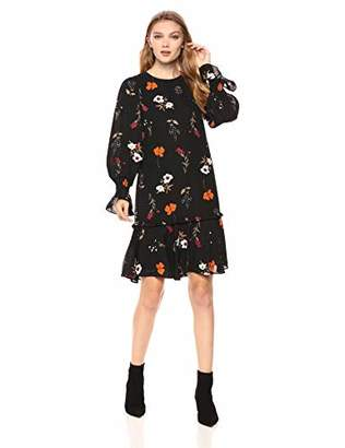Donna Morgan Women's Drop Waist Floral Dress